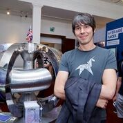Brian Cox at the Royal Society Summer Science Exhibition, 2015